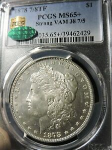 Click now to see the BUY IT NOW Price! 1878 7/8TF MORGAN   PCGS MS65    VAM 38 7/5 STRONG    AND NICE; CAC