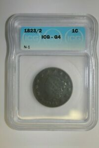 1823/2 LARGE CENT N 1 ICG G4