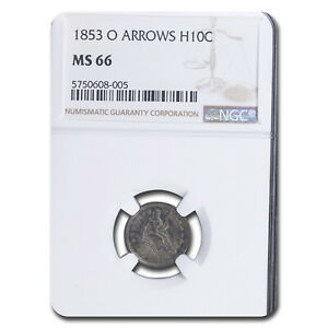 Click now to see the BUY IT NOW Price! 1853 O LIBERTY SEATED HALF DIME W/ARROWS MS 66 NGC   SKU224559