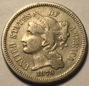 1878 THREE CENT NICKEL FINE PROOF ONLY YEAR