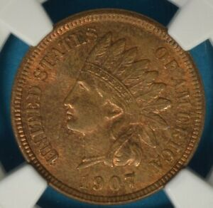 1907 INDIAN HEAD CENT NGC MS64RB  NICE TONE EYE APPEAL