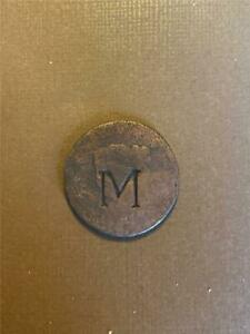 LIBERTY HEAD LARGE CENT COUNTERSTAMPED M