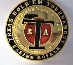 CASINO ROYALE TEXAS HOLD 'EM TOUR. COMMEMORATIVE CHALLENGE COIN