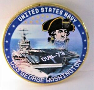 NAVY USS GEORGE WASHINGTON SHIP COMMEMORATIVE CHALLENGE COIN