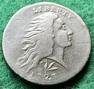 1793 FLOWING HAIR WREATH LARGE CENT S 11B LETTERED EDGE PCGS FINE DETAILS NICE