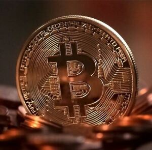 BITCOIN COIN GOLD PLATED COLLECTIBLE ART COLLECTION GIFT PHYSICAL COMMEMORATIVE
