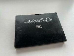 Click now to see the BUY IT NOW Price! 1981 S UNITED STATES TYPE 2 PROOF SET NO COA BOX IS WORN     BB519