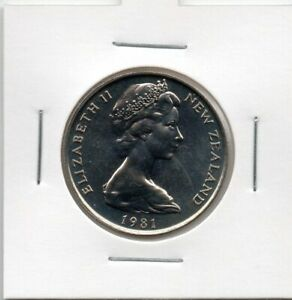 NEW ZEALAND: 1981  20 CENT COIN FROM MINT SET IN 2X2 HOLDER