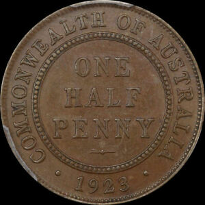 Click now to see the BUY IT NOW Price! 1923 HALFPENNY ABOUT UNC  PCGS AU58
