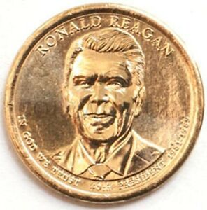 USA PRESIDENTIAL $1 COIN N40 RONALD REAGAN 2016 MINT P  2747