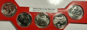 2016 D ATB QUARTER US MINT SET 5 CN CLAD COINS $2 SHIPPING