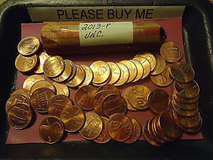 2013 P UNCIRCULATED LINCOLN CENT ROLL    S&H C/S