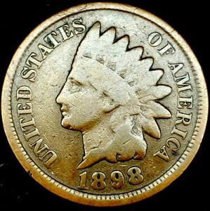 1898 P 1C INDIAN HEAD CENT 20RR0823 70 CENTS SHIPPING