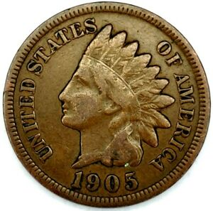 1905 P 1C INDIAN HEAD CENT XF 20LOR0817 2 70 CENTS SHIPPING