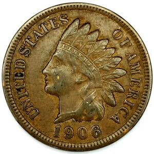 1906 P 1C INDIAN HEAD CENT XF 20RR0817 3 70 CENTS SHIPPING