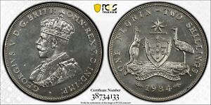 Click now to see the BUY IT NOW Price! AUSTRALIA 1934 MELBOURNE FLORIN   PCGS PR65