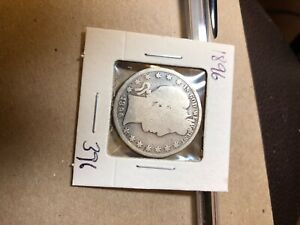 1896 PHILADELPHIA MINT SILVER BARBER HALF DOLLAR 396