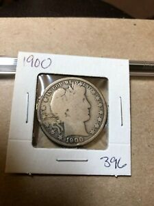 1900 SILVER BARBER HALF DOLLAR IN     BARGAIN FIND 396