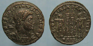 Click now to see the BUY IT NOW Price! BUDGET PRICED CONSTANTINE II GLORIA EXERCITVS AE 3
