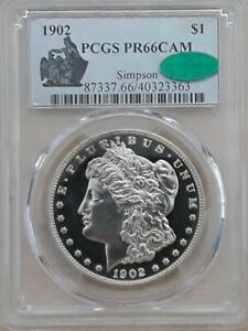 Click now to see the BUY IT NOW Price! 1902 $1   CAMEO PROOF MORGAN PCGS PR 66CAM CAC. TOP POP AT PCGS & CAC 1/0^