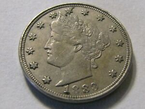 1883 N/C LIBERTY HEAD TYPE V NICKEL  NO CENTS