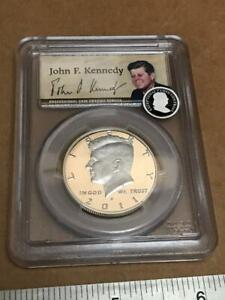 Click now to see the BUY IT NOW Price! 2011 S US 50TH ANNIVERSARY  KENNEDY 50 CENT SILVER HALF DOLLAR PCGS PR69DCAM