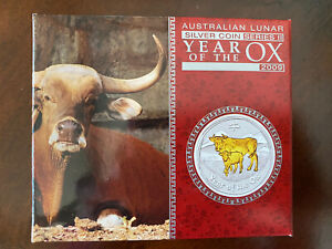 Click now to see the BUY IT NOW Price! 1 OZ 2009 PERTH LUNAR GILDED OX SILVER .999 COIN WITH BOX & COA