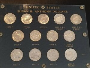 Click now to see the BUY IT NOW Price! SUSAN B ANTHONY DOLLARS SET 1979 1981 INCLUDING 1979 S TYPE 2 PROOF