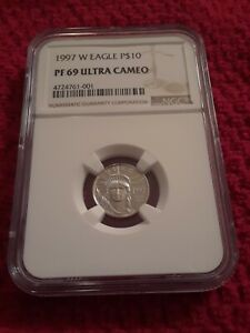 1997 W 1/10 OZ $10 PROOF PLATINUM EAGLE COIN PF69 NGC EXCELLENT LOW PRICE