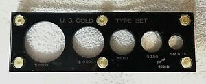 U.S. GOLD  TYPE SET   PLASTIC HOLDER BY CAPITAL                 NO COINS