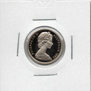 AUSTRALIAN PROOF: 1982  5 CENT COIN IN 2X2 HOLDER