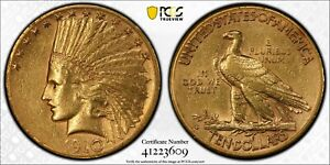 1910 S $10 GOLD COIN INDIAN HEAD EAGLE PCGS XF45
