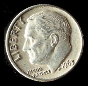 1963 D ROOSEVELT 90  SILVER DIME SHIPS FREE. BUY 5 FOR $2 OFF