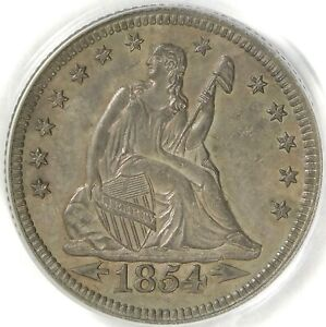 Click now to see the BUY IT NOW Price! PCGS MS62 1854 O WITH ARROWS SEATED LIBERTY QUARTER
