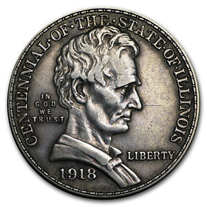 1918 LINCOLN ILLINOIS CENTENNIAL HALF XF   SKU172126