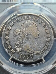 Click now to see the BUY IT NOW Price! 1797 DRAPED BUST HALF DOLLAR PCGS VF30 15 STARS  DATE