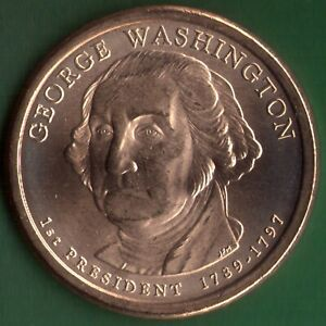 2007 P UNC GEORGE WASHINGTON PRESIDENTIAL GOLDEN DOLLAR COIN  07P0410GWD