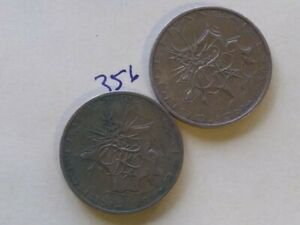1980 & ND FRANCE / FRENCH 10 FRANCS COIN; CIRCULATED UNCERTIFIED