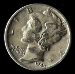 1940 D MERCURY 90  SILVER DIME SHIPS FREE. BUY 5 FOR $2 OFF
