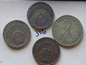 3  HUNGARY 2 FORINT COINS 1975 1980 1981; 10 FORINT 1983 CIRCULATED
