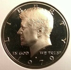 1979 CLAD PROOF KENNEDY HALF DOLLAR   UNCERTIFIED   CHOICE PROOF    MAKE OFFER