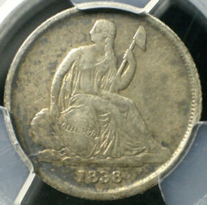 1838 O SEATED LIBERTY DIME NO STARS 10C   PCGS GRADED VF25