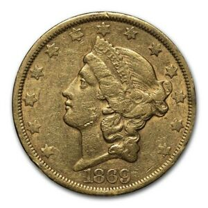 1869 S $20 LIBERTY GOLD DOUBLE EAGLE XF   SKU231343