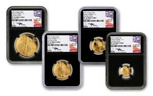 Click now to see the BUY IT NOW Price! ULTIMATE 2021 W GOLD EAGLE PF70UC FDOI SIGNED MERCANANTI 4 COINS SET