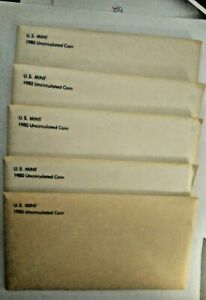 Click now to see the BUY IT NOW Price! 1980 U.S. MINT SET UNCIRCULATED  OGP COLLECTIBLE IN BOX SET OF 5