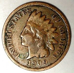 1909 P 1C INDIAN HEAD CENT 18CLU2301 70 CENTS SHIPPING