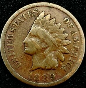 1889 P 1C INDIAN HEAD CENT 20RR0920 70 CENTS SHIPPING