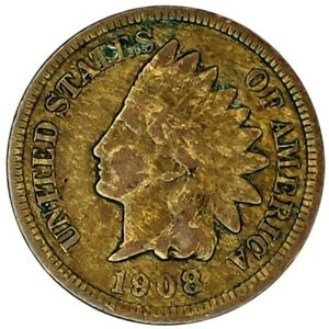 1908 P 1C INDIAN HEAD CENT 20OTC0216 70 CENTS SHIPPING