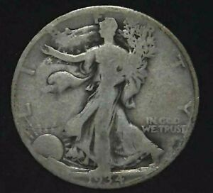 1934 D 50C WALKING LIBERTY HALF DOLLAR 90  SILVER 21LTCT0421