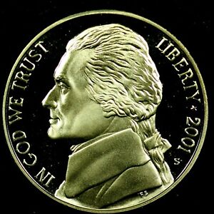2001 S 5C JEFFERSON NICKEL GDC PROOF 20RR0722 70 CENTS SHIPPING